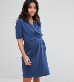 Платье с присборенной отделкой Mamalicious Nursing - Синий Mama.Licious