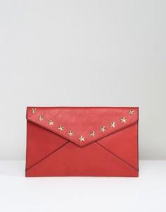 Клатч-конверт со звездами Yoki - Красный