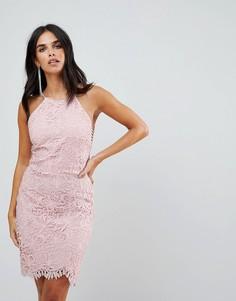 Кружевное платье с юбкой годе Adelyn Rae Louise - Розовый