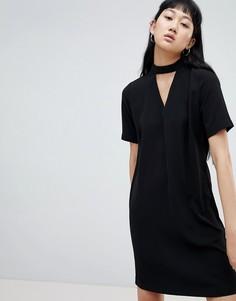 Платье с чокером b.Young - Черный
