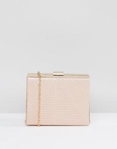 Розовый структурированный клатч Claudia Canova - Розовый