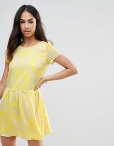 Платье с принтом пейсли FRNCH - Желтый