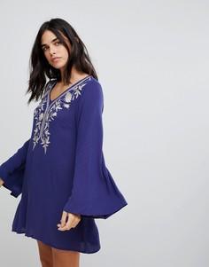 Платье с вышивкой Lunik - Синий