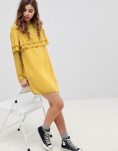 Платье с оборкой Glamorous - Желтый