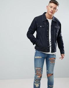 Черная выбеленная джинсовая куртка Hoxton Denim - Черный