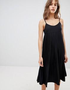 Платье миди на бретельках Ichi - Черный