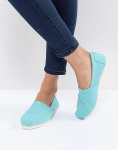 Бирюзовые парусиновые туфли TOMS Alpargata - Синий