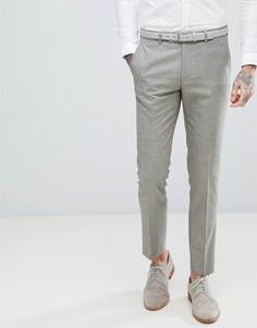 Серо-коричневые фактурные эластичные брюки скинни Harry Brown Wedding - Мульти