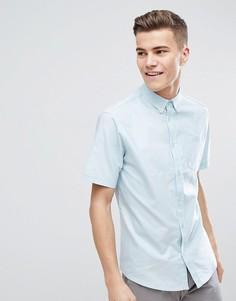 Базовая оксфордская рубашка с короткими рукавами D-Struct - Синий