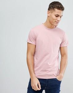 Футболка с карманом на груди Threadbare - Розовый