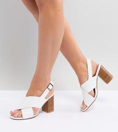 Босоножки для широкой стопы на блочном каблуке Park Lane - Белый