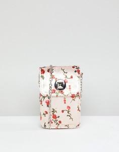 Бархатная сумка через плечо с цветочным узором Yoki Fashion - Мульти