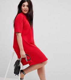 Свободное платье с высоким воротом AX Paris Plus - Красный