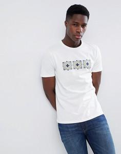 Белая хлопковая футболка с ацтекским принтом Gandys - Белый Gandys