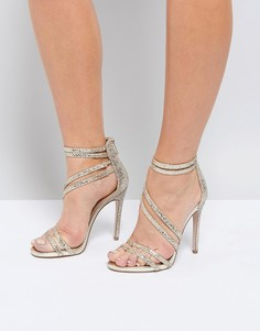 Босоножки на каблуке с ремешками Miss KG - Золотой