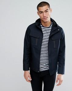 Куртка Харрингтон с нагрудным карманом Brave Soul - Темно-синий