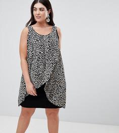 Платье с запахом и звериным принтом Koko - Мульти