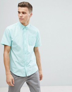 Базовая оксфордская рубашка с короткими рукавами D-Struct - Зеленый