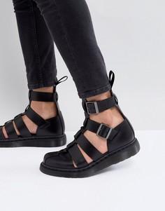 Черные сандалии с ремешком на щиколотке Dr Martens Geraldo - Черный