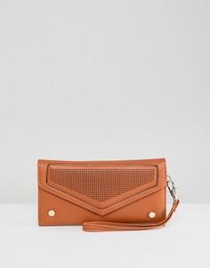 Светло-коричневый кошелек-конверт Yoki Fashion - Рыжий