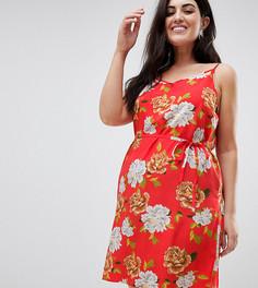 Свободное платье на бретелях в полоску AX Paris Plus - Мульти