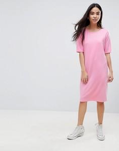 Свободное платье b.Young - Розовый