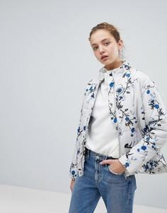 Куртка с цветочным принтом b.Young - Мульти