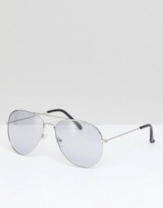 Солнцезащитные очки-авиаторы с цветными стеклами 7X - Черный