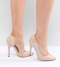 Туфли на высоком каблуке для широкой стопы с острым носком London Rebel - Бежевый