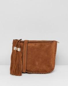 Светло-коричневая сумка с кисточками Yoki Fashion - Рыжий
