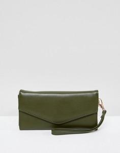 Сумка-конверт цвета хаки Yoki Fashion - Зеленый