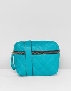 Зеленая стеганая сумка-кошелек на пояс Yoki Fashion - Зеленый