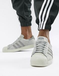 Кроссовки в стиле 80-х adidas Originals Superstar - Серый