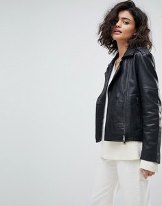 Кожаная байкерская куртка Muubaa - Черный