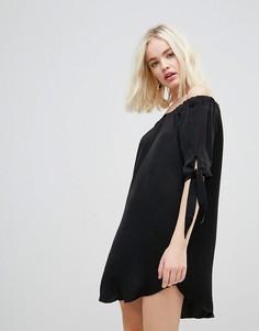 Свободное платье с открытыми плечами Hazel - Черный