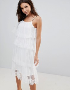 Платье миди без рукавов The English Factory - Белый