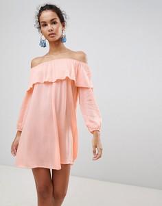 Платье с открытыми плечами Glamorous - Розовый