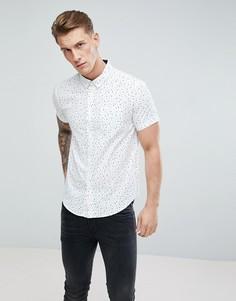 Рубашка с коротким рукавом и принтом Brave Soul - Белый