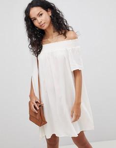 Платье с открытыми плечами Glamorous - Бежевый