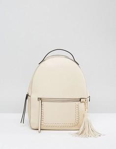 Структурированный рюкзак с кисточками Park Lane - Кремовый