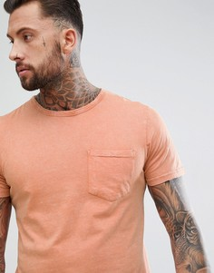 Oversize-футболка с карманом Another Influence - Коричневый