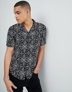 Монохромная рубашка с короткими рукавами Another Influence - Черный