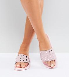 Сандалии для широкой стопы с отделкой заклепками Truffle Collection - Розовый