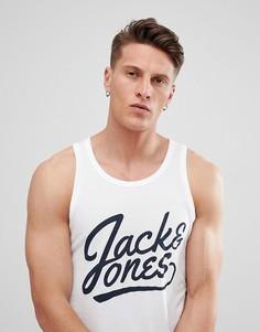 Майка с логотипом Jack & Jones - Белый