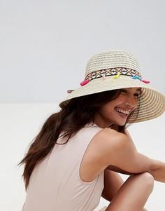 Соломенная шляпа с кисточками Liquorish Summer - Кремовый