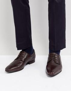 Коричневые блестящие туфли дерби со шнуровкой Dune - Коричневый