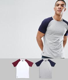 2 футболки с рукавами реглан Threadbare - Серый
