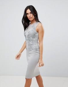 Облегающее платье с аппликацией Ax Paris - Зеленый