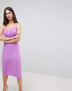 Платье миди с бантом Ax Paris - Фиолетовый