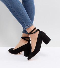 Туфли на блочном каблуке для широкой стопы London Rebel - Черный